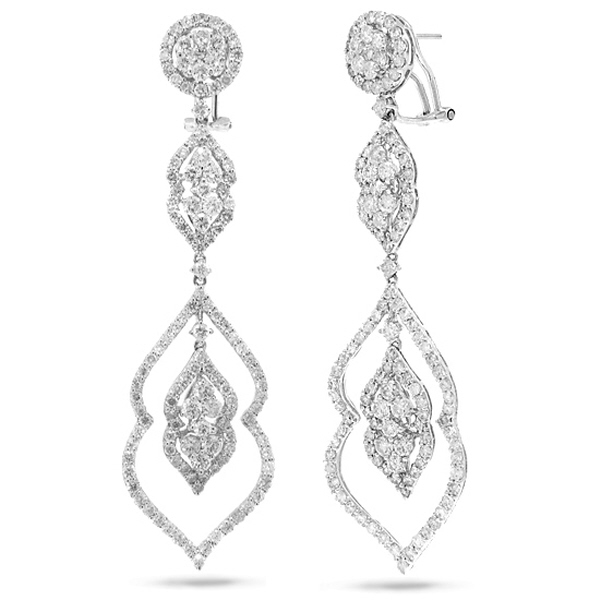 5.60ct 18k White Gold Diamond Earrings
