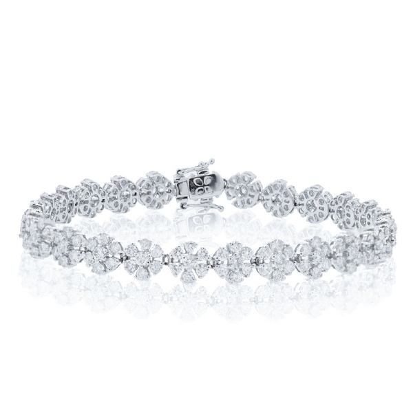 6.68ct 18k White Gold Diamond Lady's Bracelet