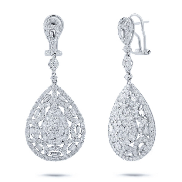5.33ct 18k White Gold Diamond Earrings