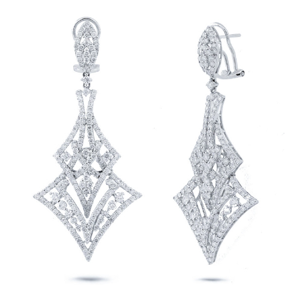 4.80ct 18k White Gold Diamond Earrings