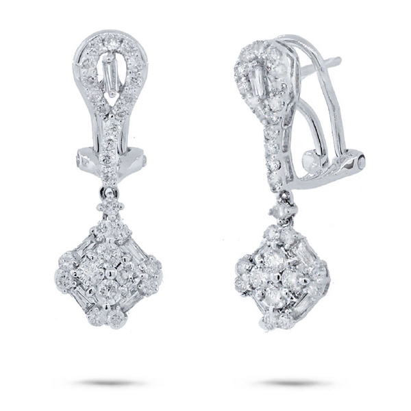 1.14ct 18k White Gold Diamond Earrings