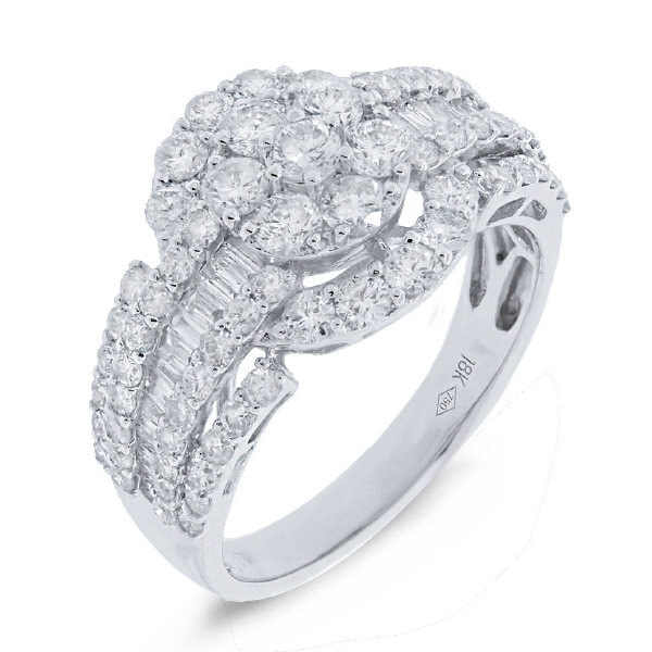 2.00ct 18k White Gold Diamond Lady's Ring