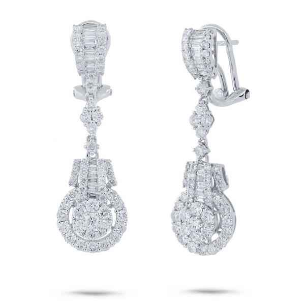 2.34ct 18k White Gold Diamond Earrings