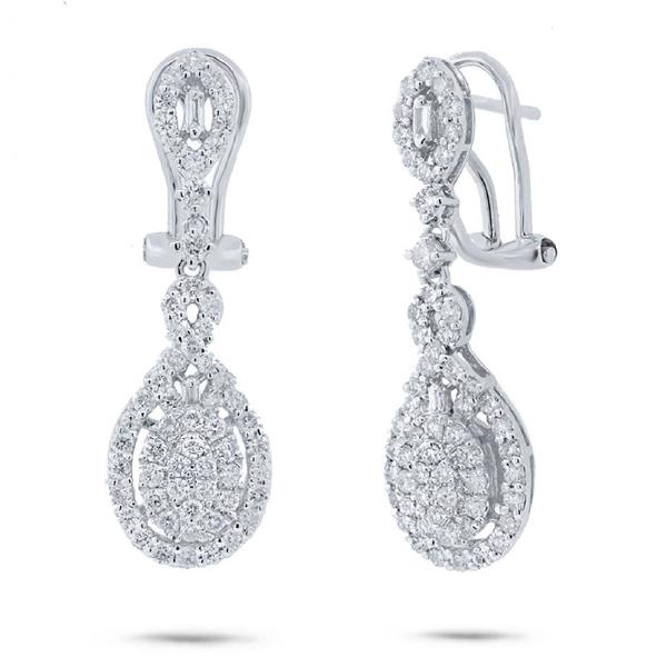 1.46ct 18k White Gold Diamond Earrings