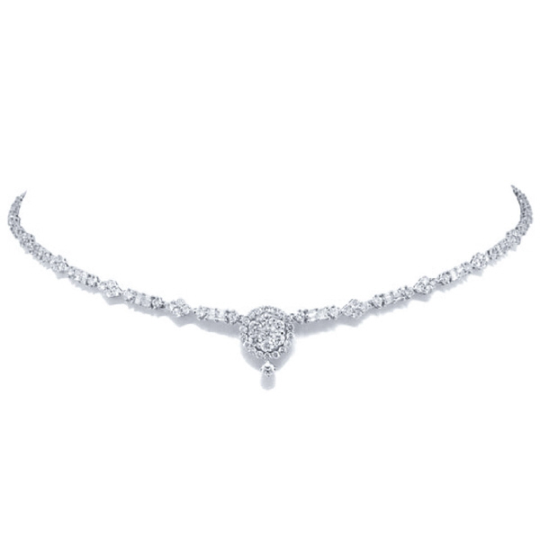 5.78ct 18k White Gold Diamond Necklace