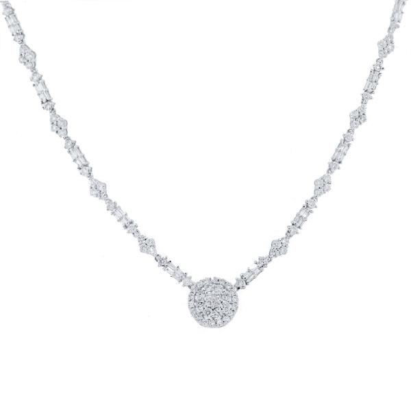 5.57ct 18k White Gold Diamond Necklace