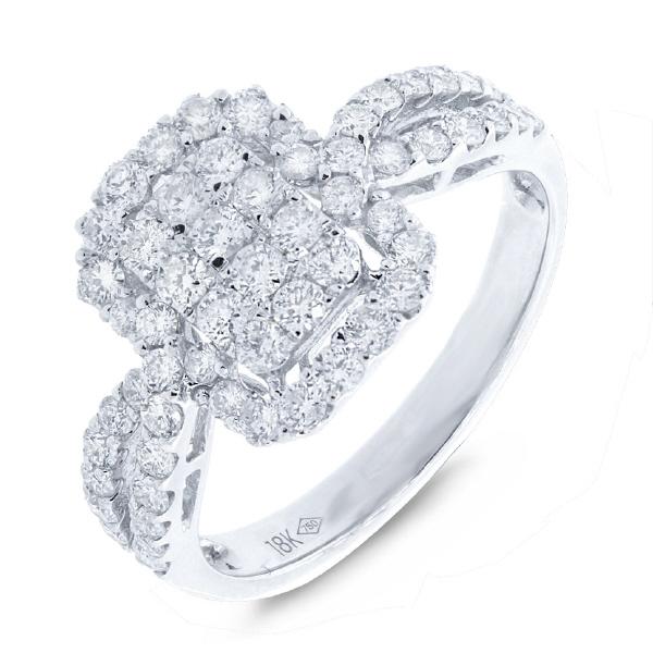 1.02ct 18k White Gold Diamond Lady's Ring