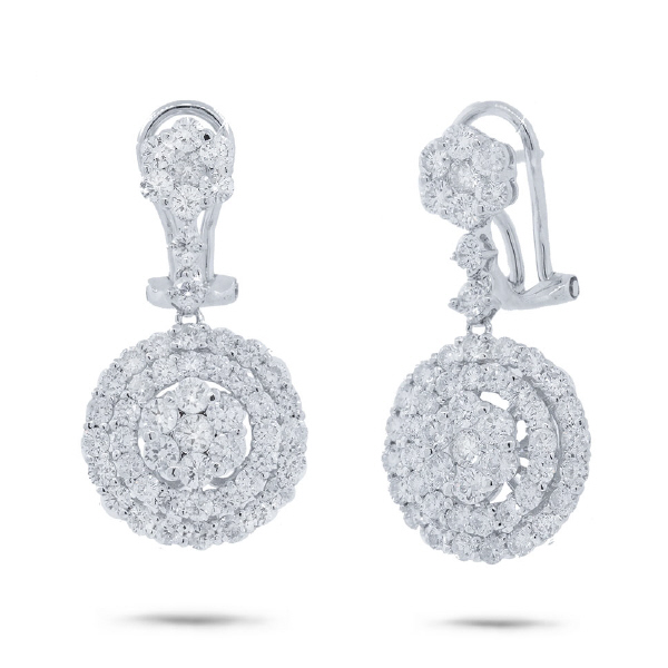 3.11ct 18k White Gold Diamond Earrings