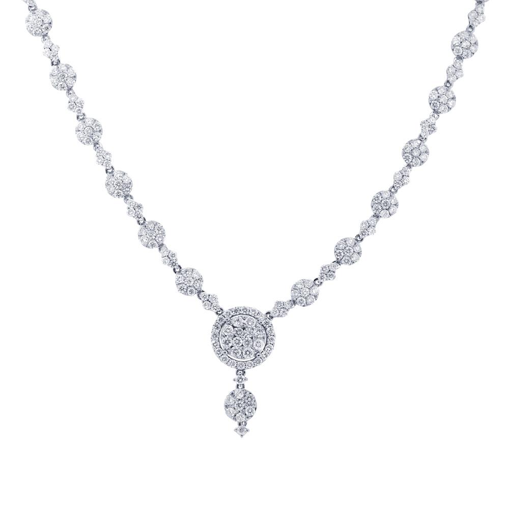 9.07ct 18k White Gold Diamond Necklace