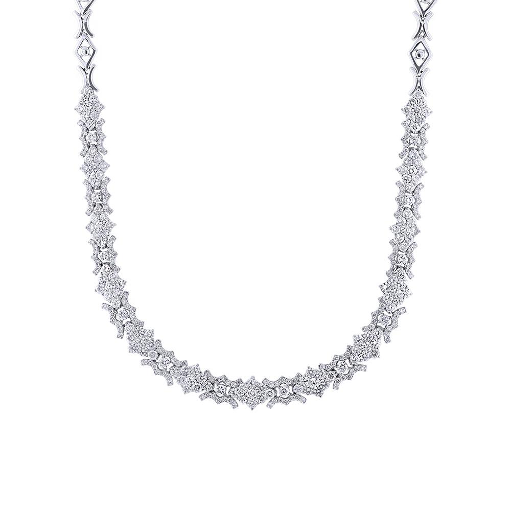 10.32ct 18k White Gold Diamond Necklace