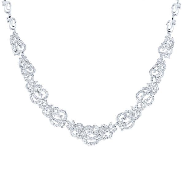 15.06ct 18k White Gold Diamond Necklace
