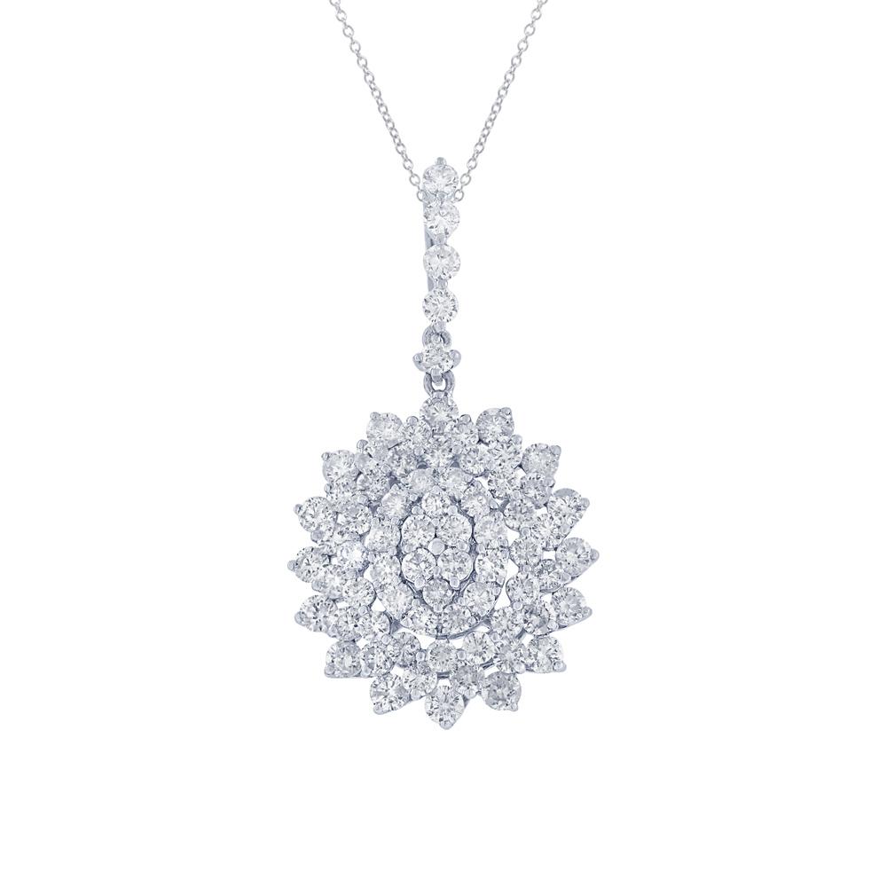 2.66ct 18k White Gold Diamond Pendant Necklace