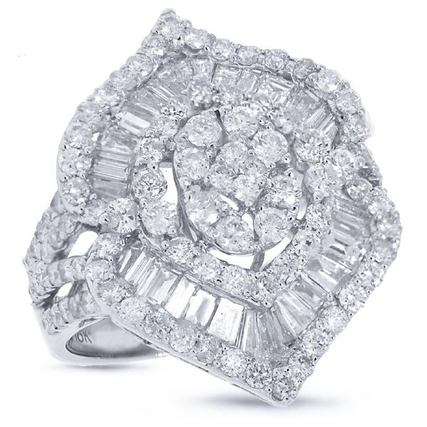 3.68ct 18k White Gold Diamond Lady's Ring