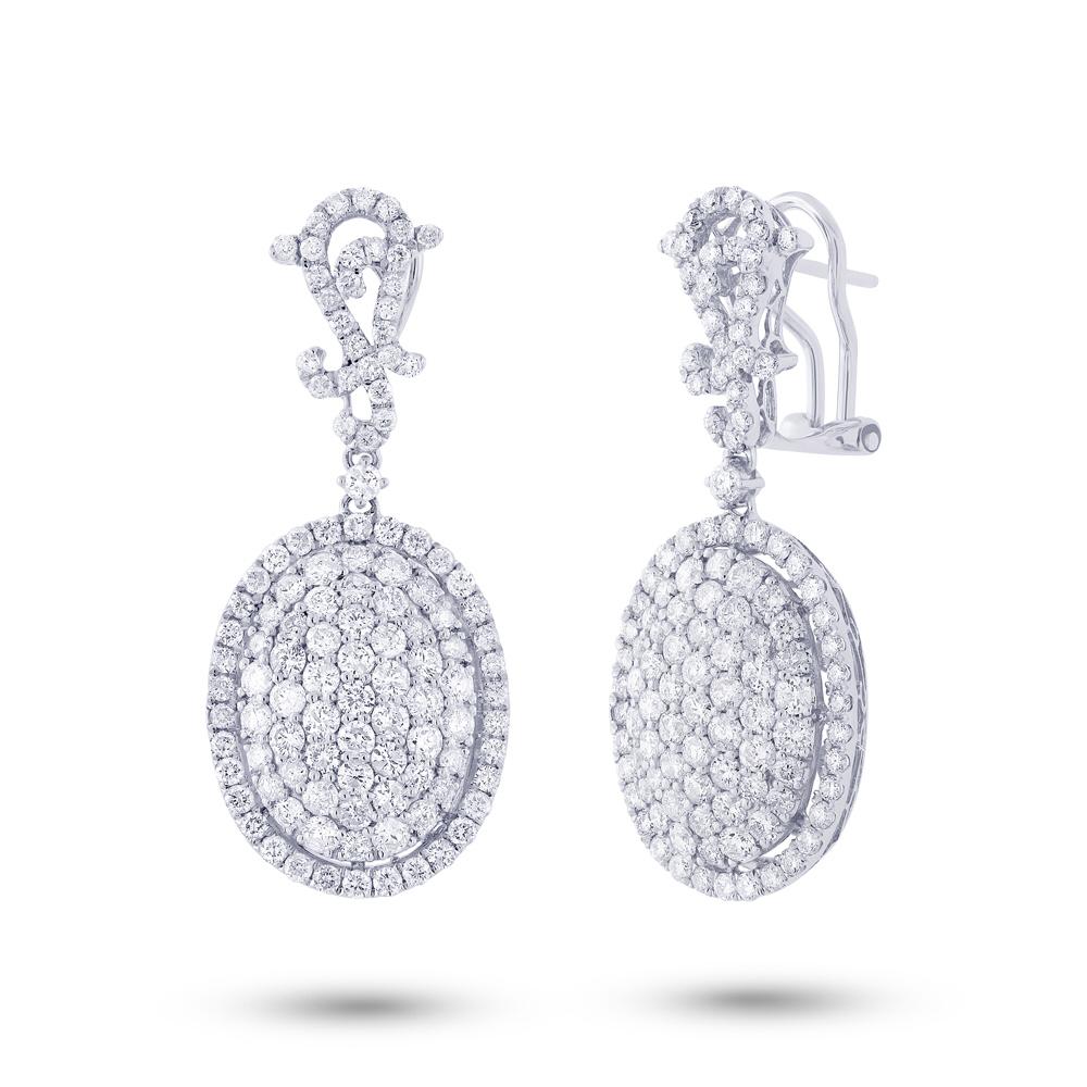 4.75ct 18k White Gold Diamond Earrings