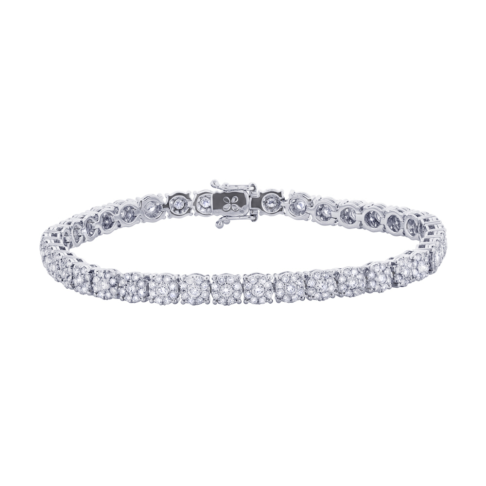 3.55ct 18k White Gold Diamond Lady's Bracelet
