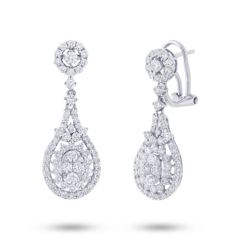2.01ct 18k White Gold Diamond Earrings