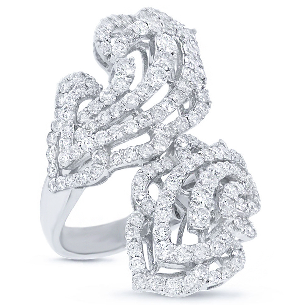 3.68ct 18k White Gold Diamond Lady's Ring