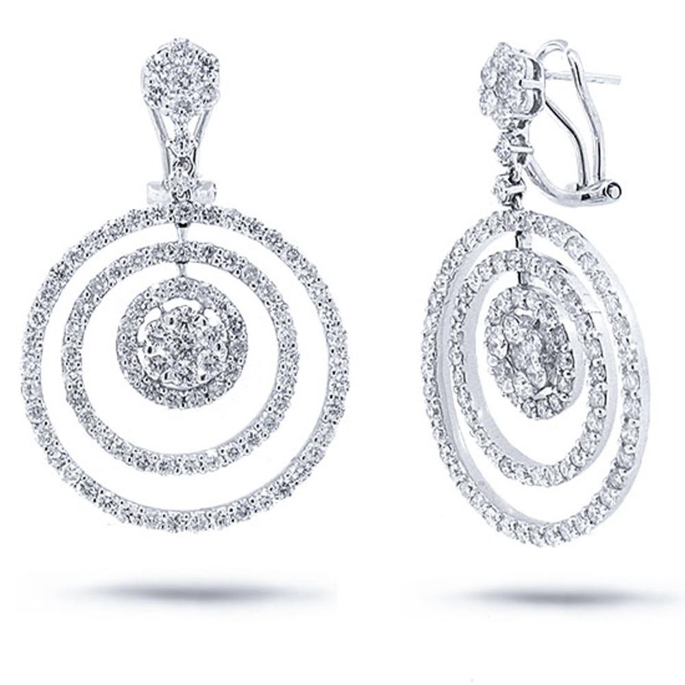 5.04ct 18k White Gold Diamond Earrings