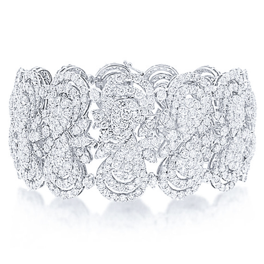 26.50ct 18k White Gold Diamond Lady's Bracelet