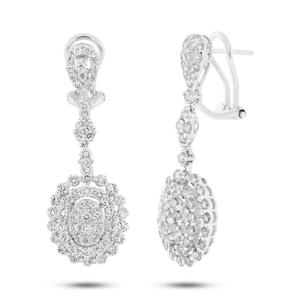 2.70ct 18k White Gold Diamond Earrings