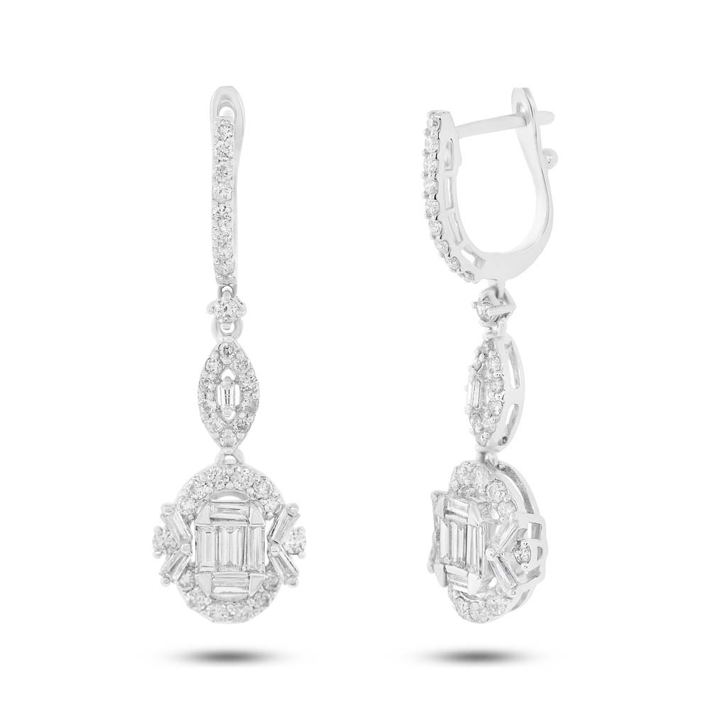 1.51ct 18k White Gold Diamond Earrings