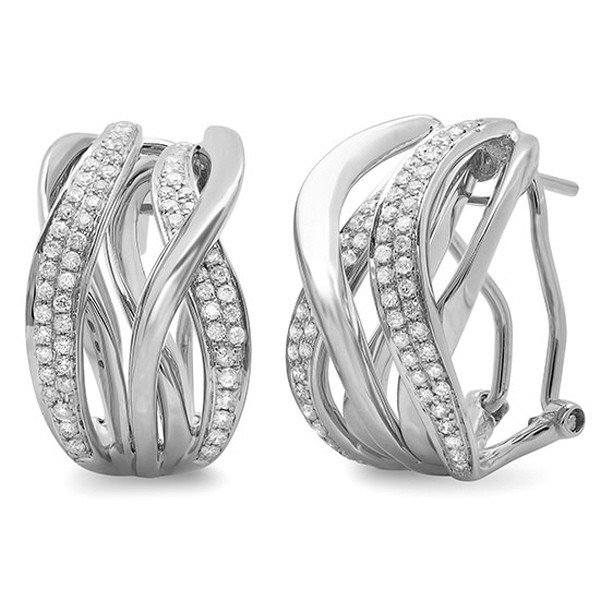 0.84ct 14k White Gold Diamond Earrings