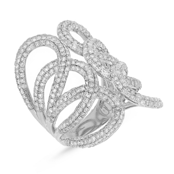 2.68ct 14k White Gold Diamond Lady's Ring