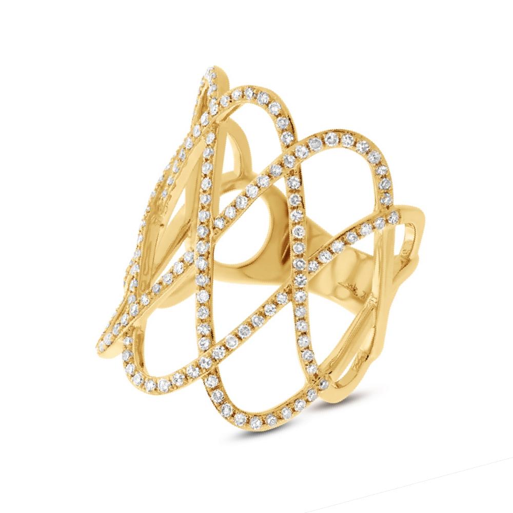 0.70ct 14k Yellow Gold Diamond Lady's Ring