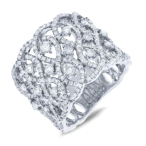 1.64ct 14k White Gold Diamond Lady's Ring