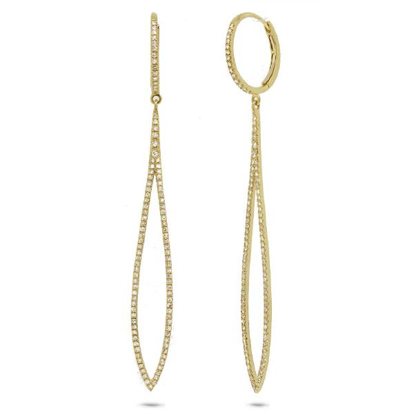 0.55ct 14k Yellow Gold Diamond Earrings