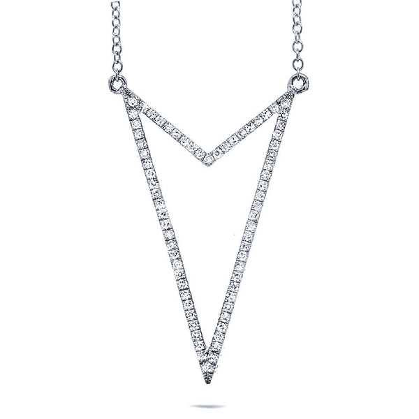 0.22ct 14k White Gold Diamond Necklace