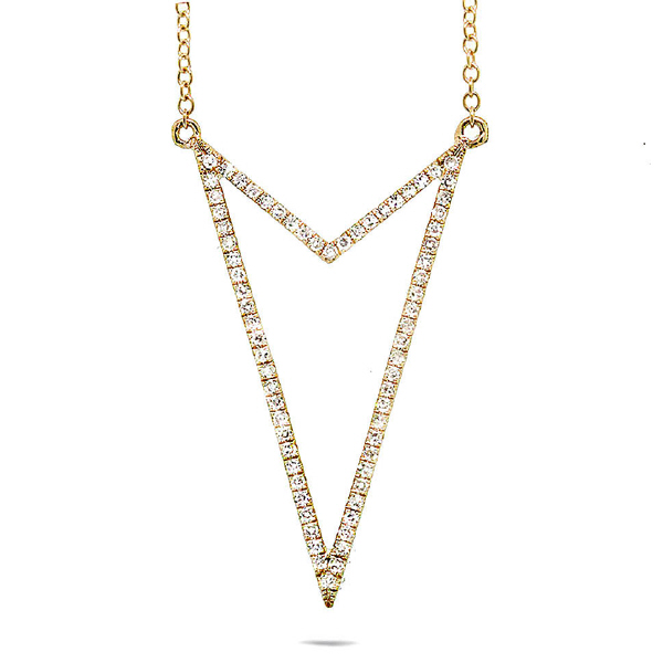 0.22ct 14k Yellow Gold Diamond Necklace