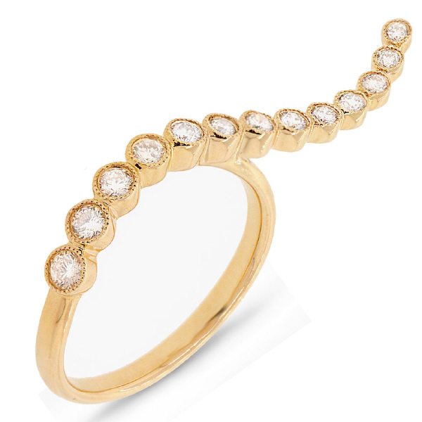 0.44ct 14k Yellow Gold Diamond Lady's Ring