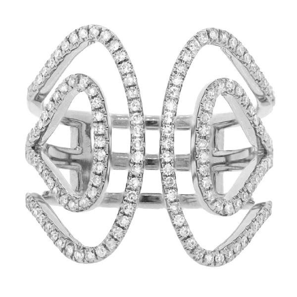 0.42ct 14k White Gold Diamond Lady's Ring
