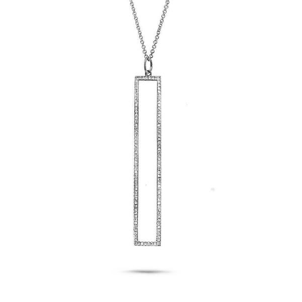 0.24ct 14k White Gold Diamond Pendant Necklace