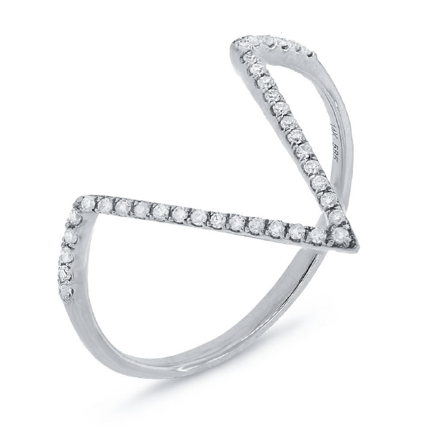 0.11ct 14k White Gold Diamond Lady's Ring