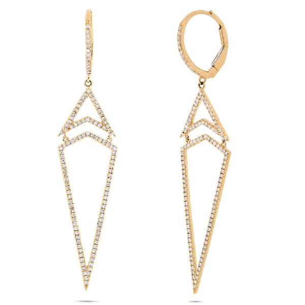 0.60ct 14k Yellow Gold Diamond Earrings