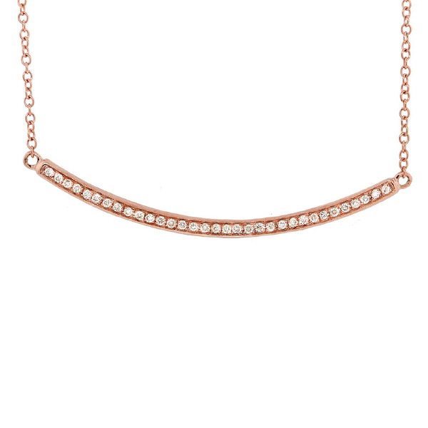 0.13ct 14k Rose Gold Diamond Necklace