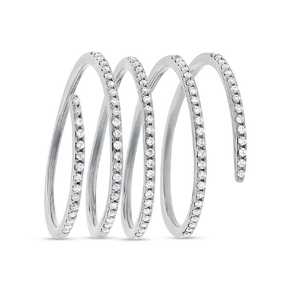 0.36ct 14k White Gold Diamond Spiral Lady's Ring