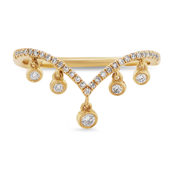 0.19ct 14k Yellow Gold Diamond Lady's Ring
