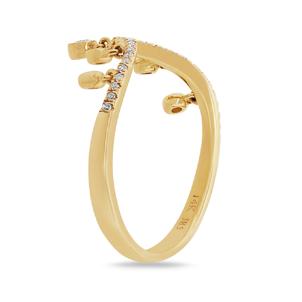 0.19ct 14k Yellow Gold Diamond Lady's Ring
