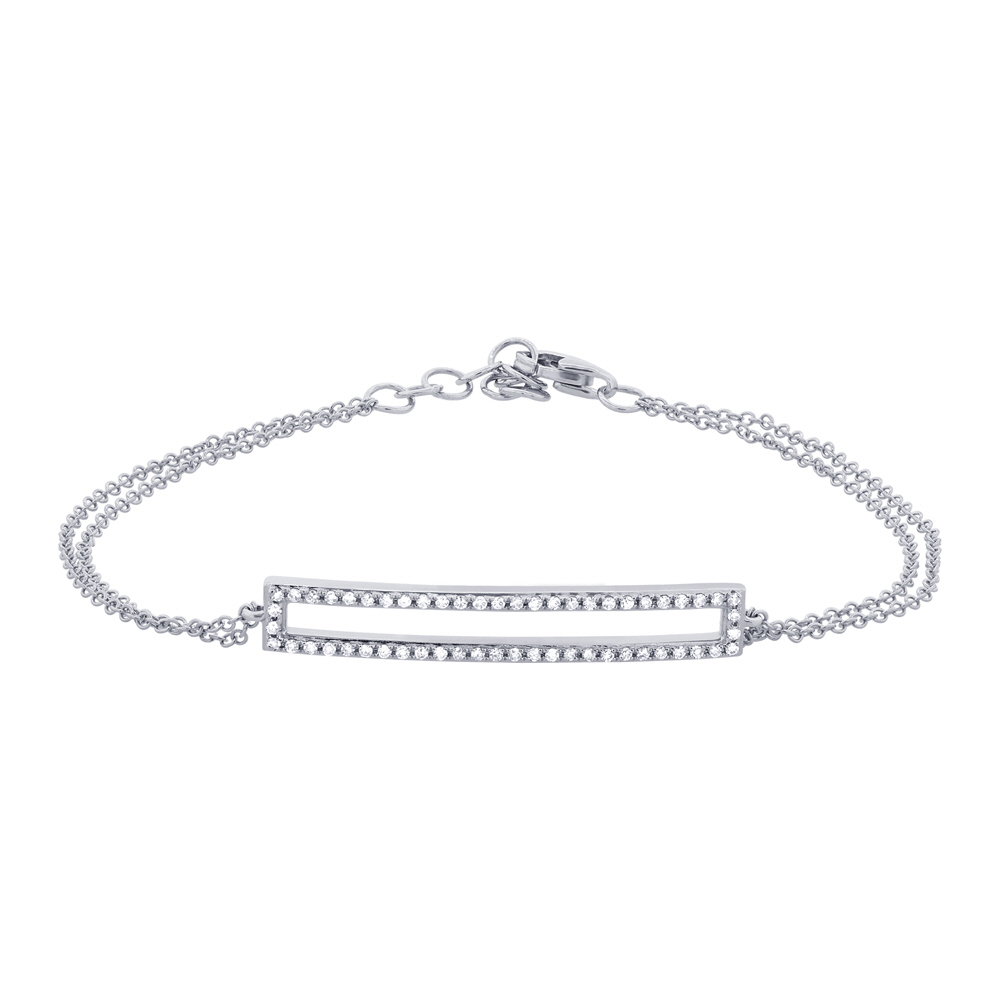0.18ct 14k White Gold Diamond Bracelet