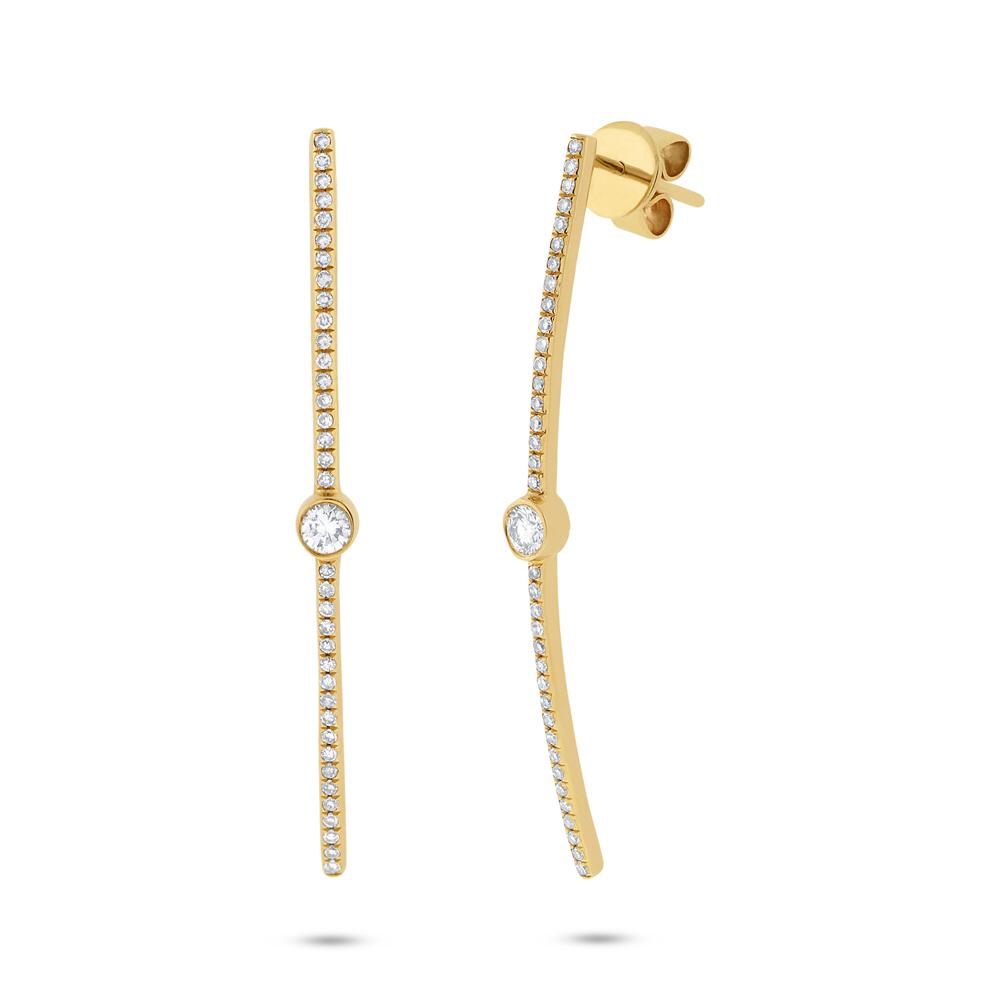 0.32ct 14k Yellow Gold Diamond Earrings