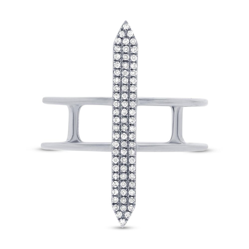 0.18ct 14k White Gold Diamond Lady's Ring