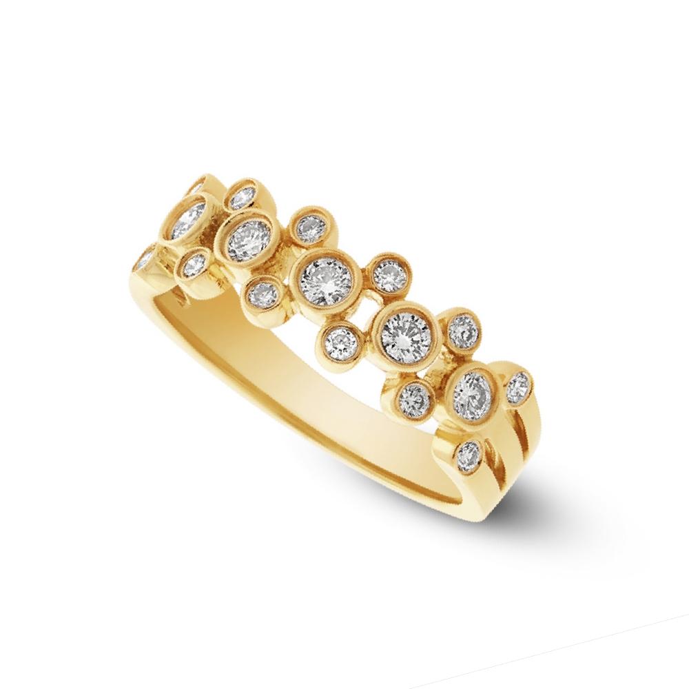 0.43ct 14k Yellow Gold Diamond Lady's Ring