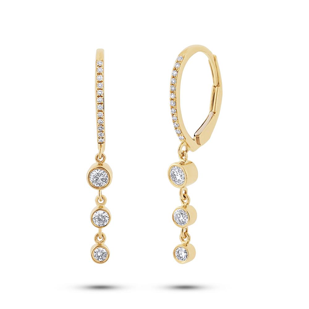 0.39ct 14k Yellow Gold Diamond Earrings
