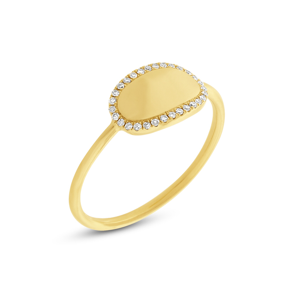 0.08ct 14k Yellow Gold Diamond ID Ring