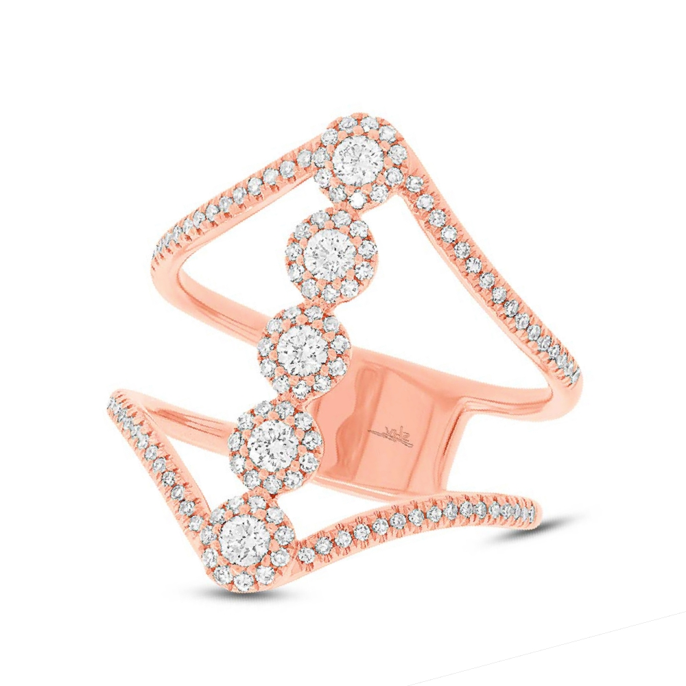 0.56ct 14k Rose Gold Diamond Lady's Ring