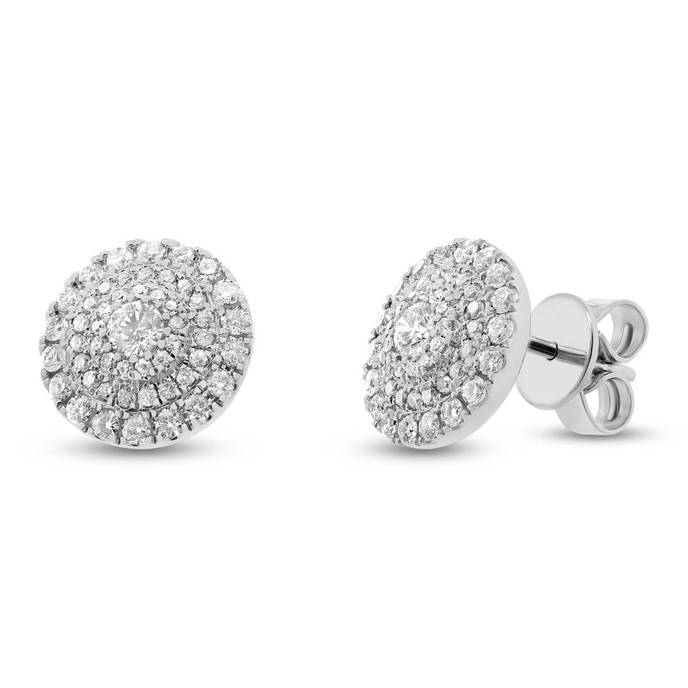 0.93ct 14k White Gold Diamond Earrings