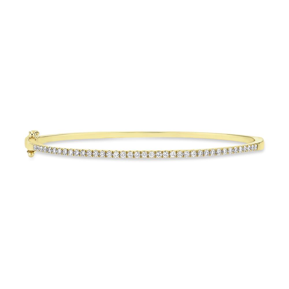 0.62ct 14k Yellow Gold Diamond Bangle Bracelet